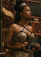 Car show girl muscular boobs