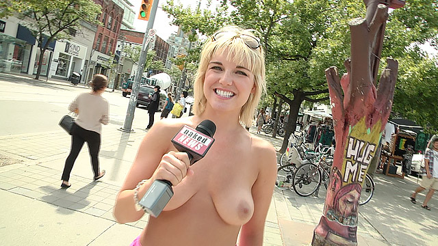 Naked models in public