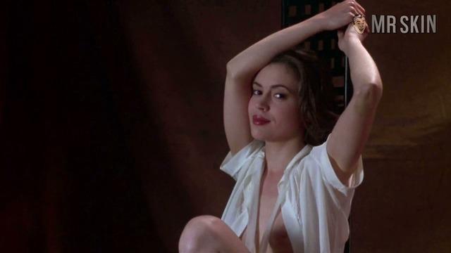 Alyssa milano poison ivy sex scene consider